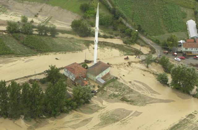Samsundaki Sel Havadan Görüntülendi galerisi resim 11