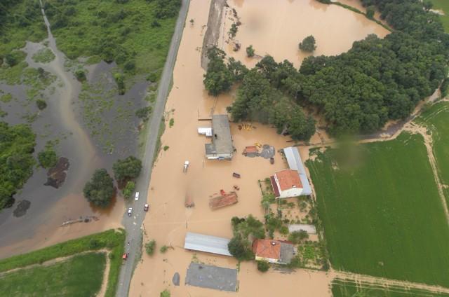 Samsundaki Sel Havadan Görüntülendi galerisi resim 6