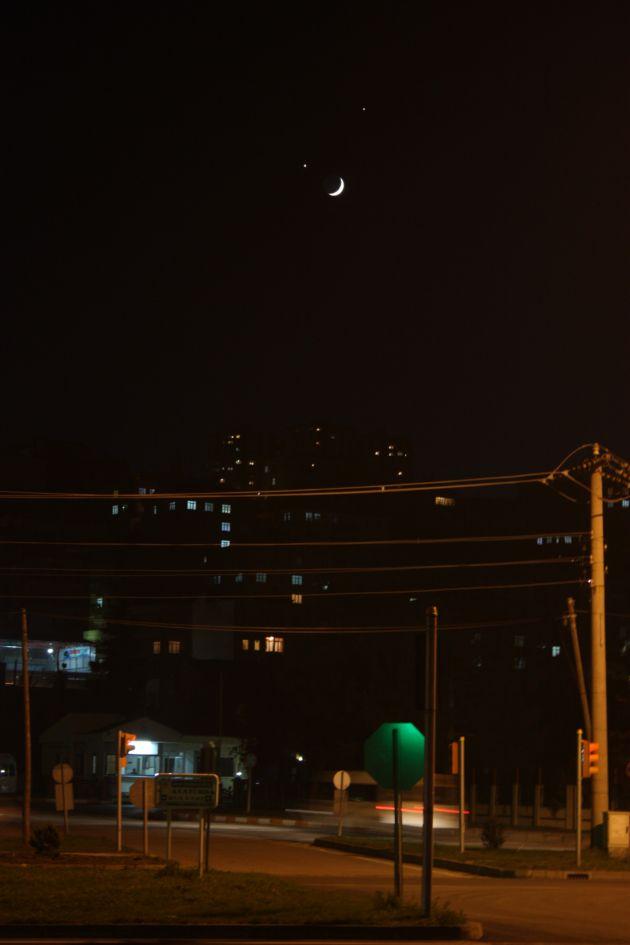 Ay ve yıldızın gökyüzündeki ahengi! galerisi resim 8