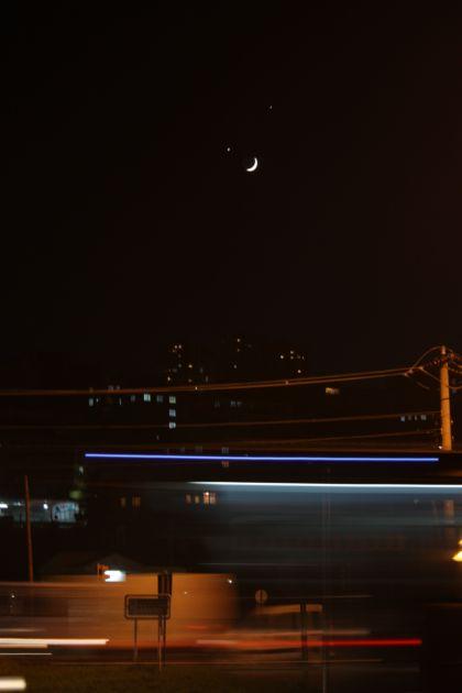 Ay ve yıldızın gökyüzündeki ahengi! galerisi resim 9