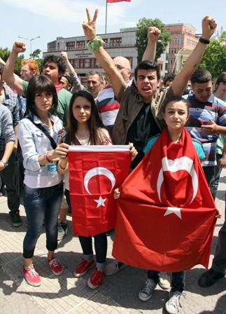 Samsunda Gezi Parkı Protestosu galerisi resim 1