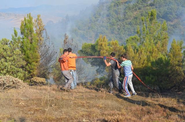 Çorum'da Orman Yangını galerisi resim 12