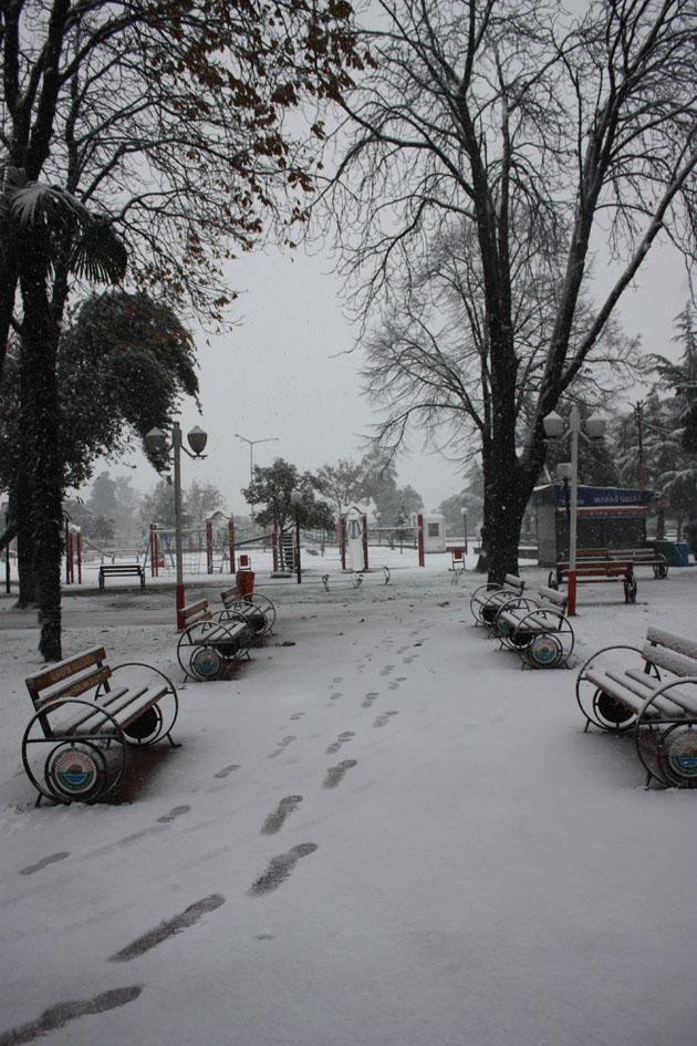 Samsundan kar manzaraları! galerisi resim 10