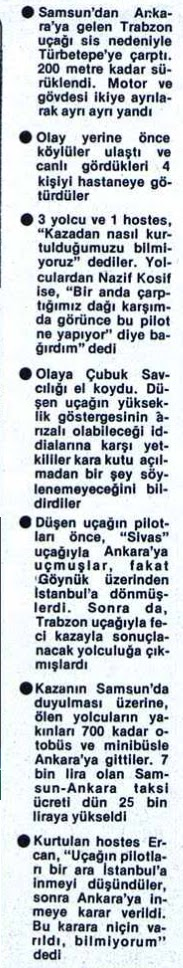 Samsun - Ankara seferi yapan Trabzon adlı uçak düştü ! galerisi resim 9