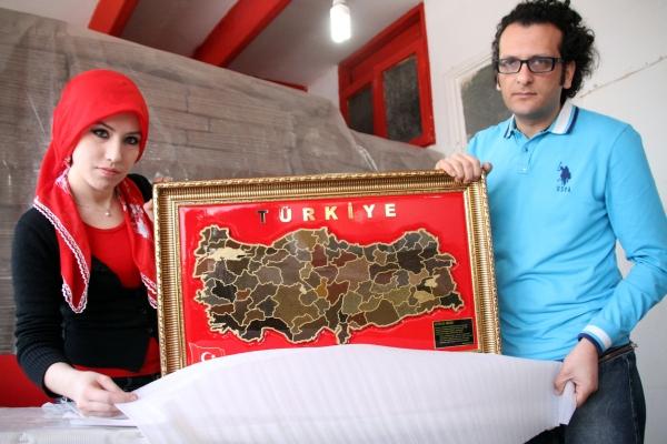 81 ilin toprağıyla Türkiye haritası galerisi resim 4