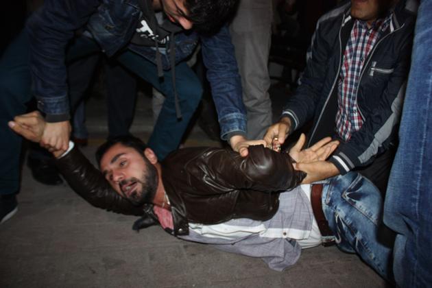 Samsunda Fotoğraflarla Kobani Gerginliği galerisi resim 18