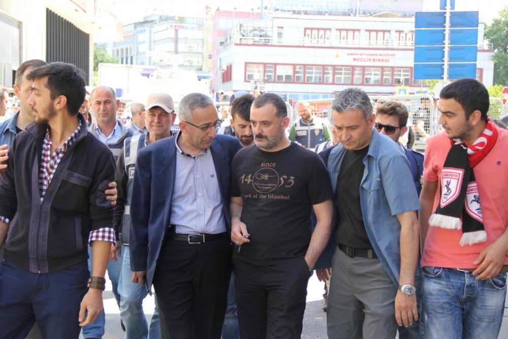HDP Samsun Mitingine Protesto galerisi resim 10