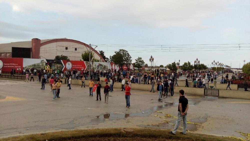 HDP Samsun Mitingine Protesto galerisi resim 11