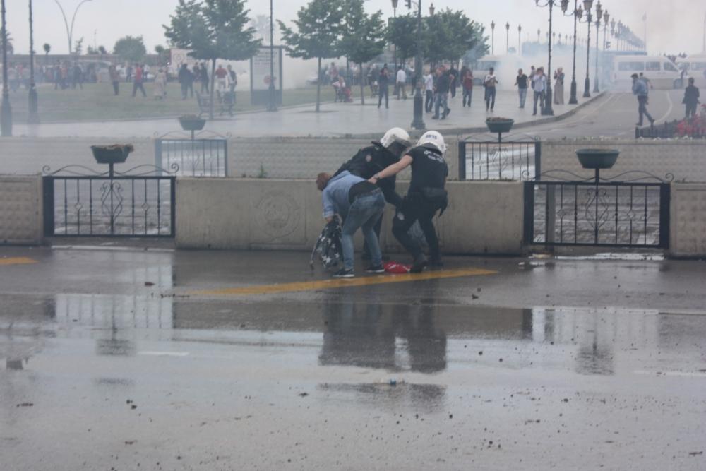 HDP Samsun Mitingine Protesto galerisi resim 23