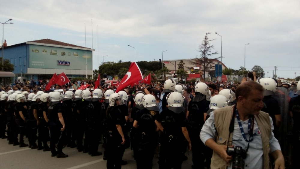HDP Samsun Mitingine Protesto galerisi resim 3