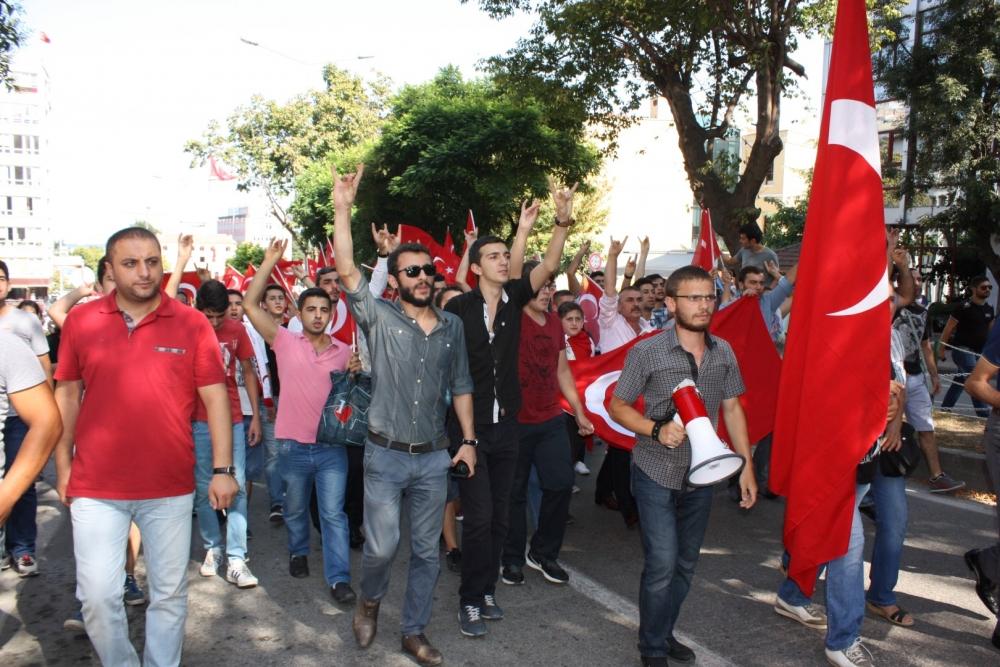 Samsun'da Teröre Lanet Yürüyüşü galerisi resim 4