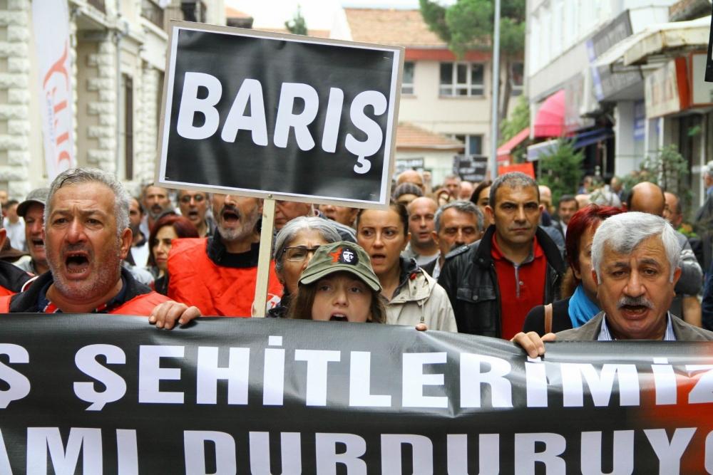 Samsun'da Terörü Protesto Ettiler, Türk Bayrağı Taşımadılar galerisi resim 4