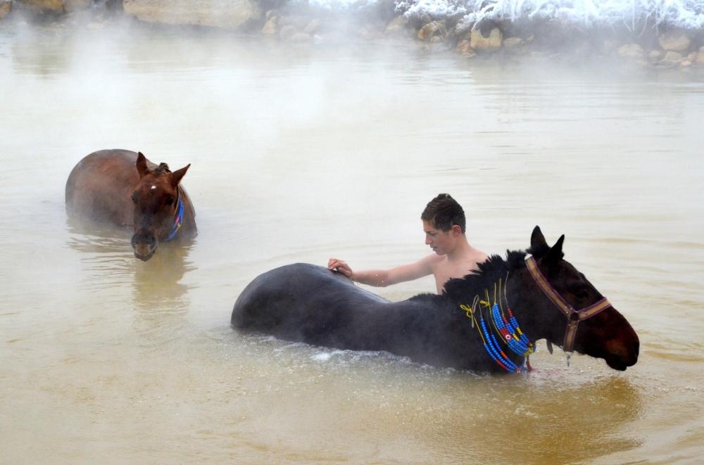 Manda ve Atlarını Kaplıca Sularında Yıkıyorlar galerisi resim 24