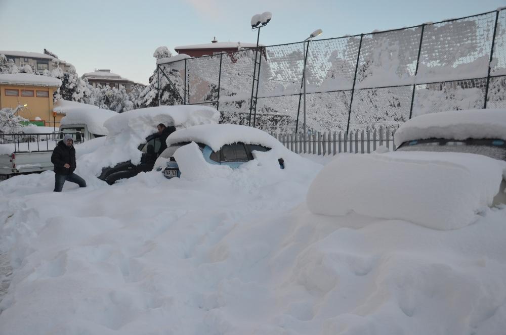 Samsun'da Kar Hayatı Felç Etti galerisi resim 11
