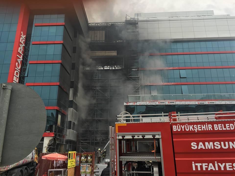 Samsun Medical Park Hastanesi'ndeki Yangından Kareler galerisi resim 11
