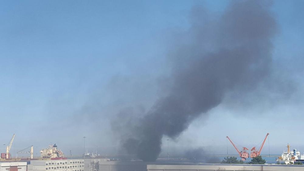 Samsun Limanı'nda Yangın galerisi resim 10