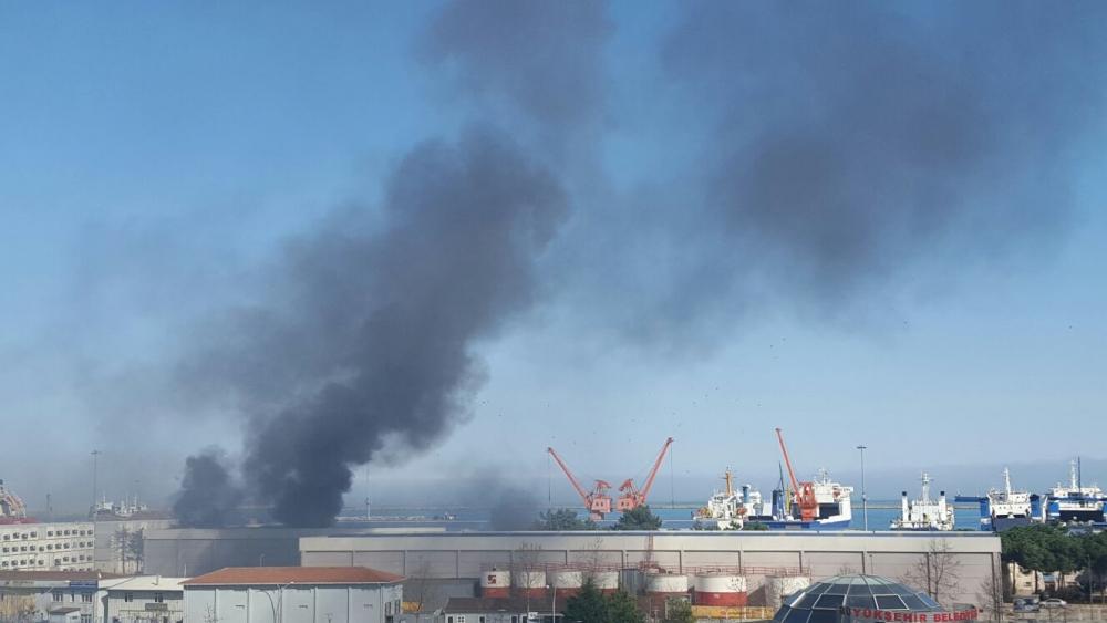 Samsun Limanı'nda Yangın galerisi resim 11