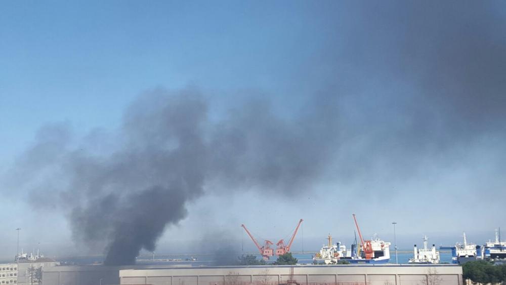 Samsun Limanı'nda Yangın galerisi resim 12