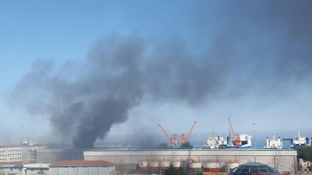 Samsun Limanı'nda Yangın galerisi resim 13