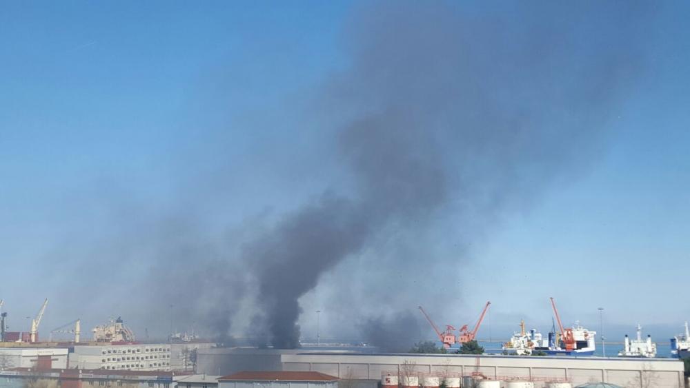 Samsun Limanı'nda Yangın galerisi resim 14