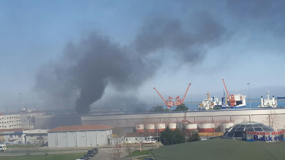 Samsun Limanı'nda Yangın galerisi resim 18