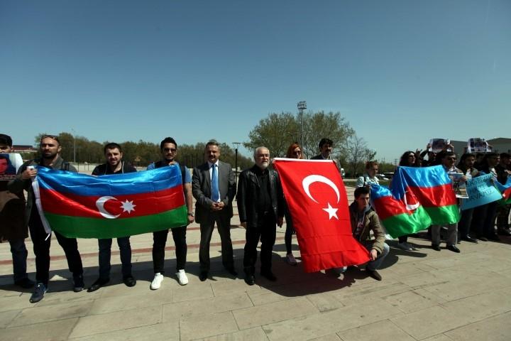 OMÜ'de Ermenistan'ın Azerbaycan'ı İşgali Kınandı galerisi resim 1