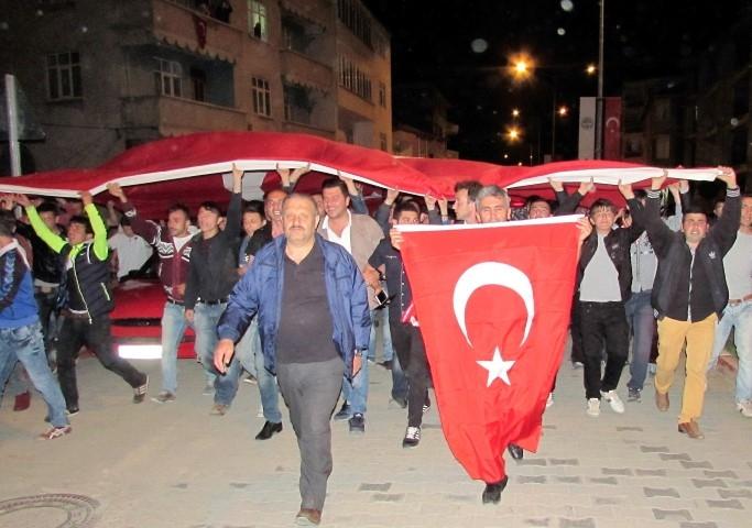 """Samsun'da """"Türk Bayrağına Saygı ve Güvenlik Güçlerine Destek&q galerisi resim 7"""