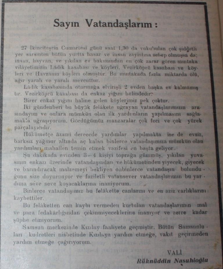 Samsun'un Geçmişine Bu Haberler Işık Tutuyor galerisi resim 16