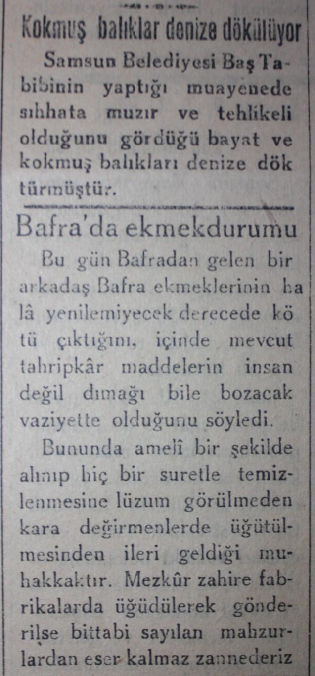 Samsun'un Geçmişine Bu Haberler Işık Tutuyor galerisi resim 19