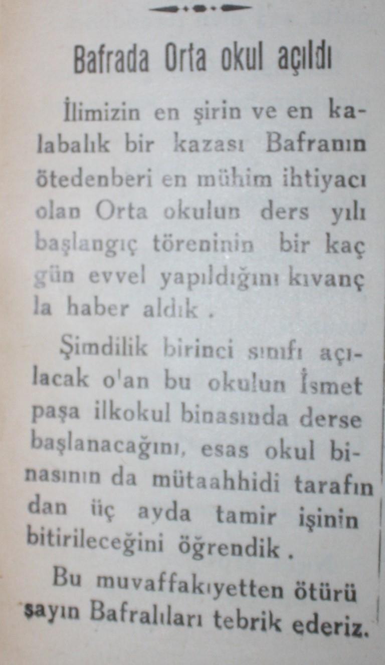 Samsun'un Geçmişine Bu Haberler Işık Tutuyor galerisi resim 29