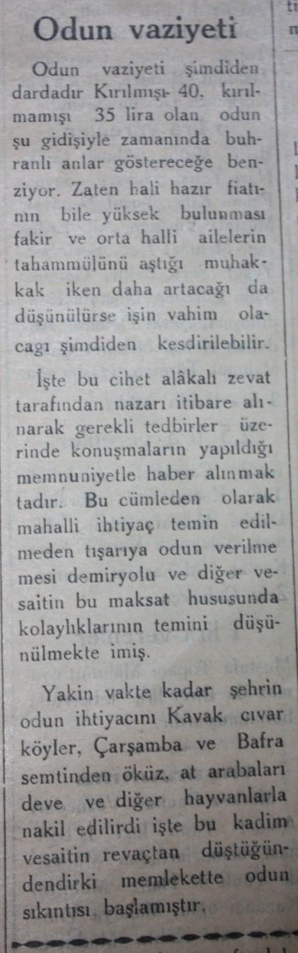 Samsun'un Geçmişine Bu Haberler Işık Tutuyor galerisi resim 40