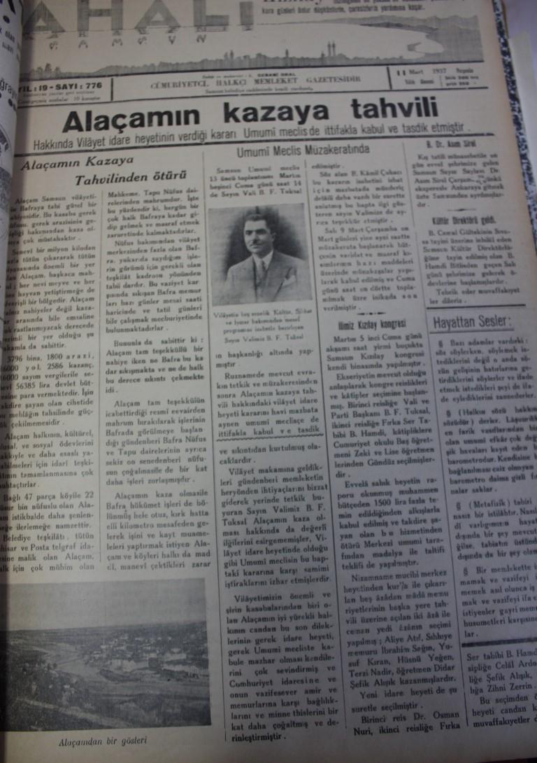 Samsun'un Geçmişine Bu Haberler Işık Tutuyor galerisi resim 45