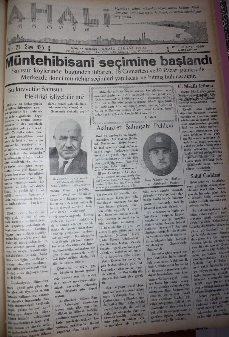 Samsun'un Geçmişine Bu Haberler Işık Tutuyor galerisi resim 82