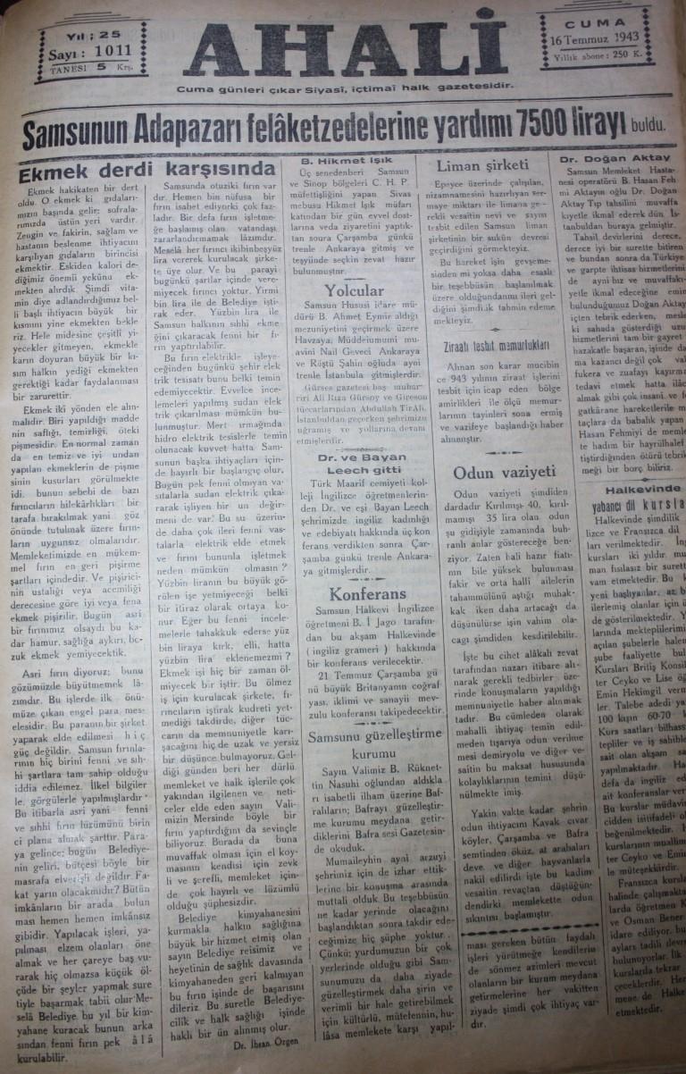 Samsun'un Geçmişine Bu Haberler Işık Tutuyor galerisi resim 86
