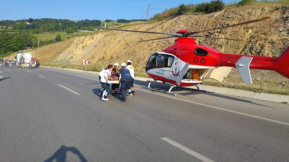 Samsun'daki Feci Trafik Kazasında 38 Kişi Yaralandı galerisi resim 11