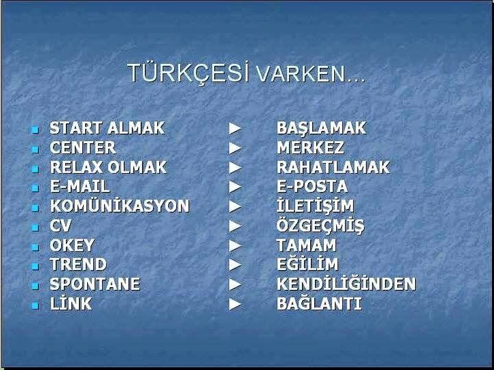 Türkçesi Varken galerisi resim 1