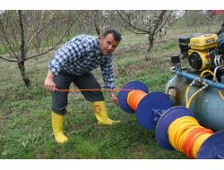 Çaycuma'da Bir Esnaf Tarafından Punomatik Adı Verilen Bahçedeki Fidanları Budama Makinesi Yapıldı