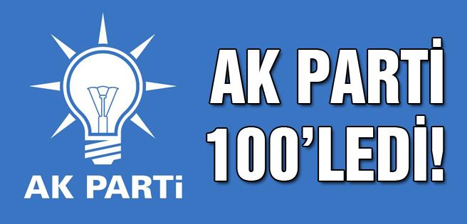 AK Parti Samsun'da 100'ledi!