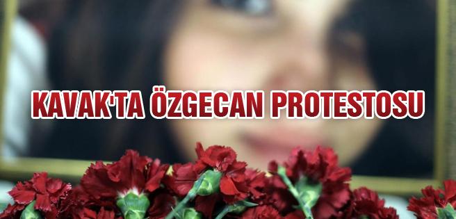 Kavak'ta Özgecan Protestosu