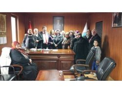 Bayanlardan Başkan Aydın'a Ziyaret
