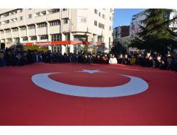 Bafralı Ülkücüler Çakıroğlu'nun Öldürülmesini Protesto Etti