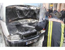 Tamirden Getirdiği Aracında Yangın Çıktı