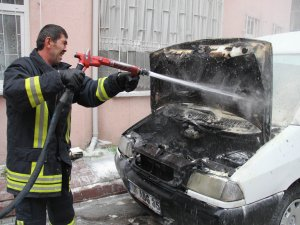 Otomobilini Tamirden Getirdi Kül Oldu