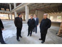 Başkan Özdemir'den Avm İnşaatında İnceleme