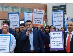 Tokat'ta Sağlıkçılardan Yıpranma Payı Ve Ek Ödeme Eylemi