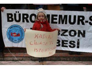Kadına Şiddet Trabzon'da Kınandı