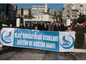 Ereğli Ülkü Ocakları, İzmir'de Öldürülen Fırat Çakıroğlu İçin Eylem Yaptı