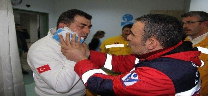 Samsun'da Hasta Yakını Dehşet Saçtı
