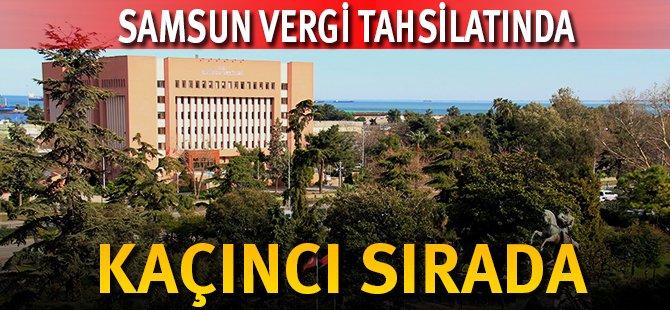 Samsun Vergi Tahsilatında Türkiye'de 13. Sırada