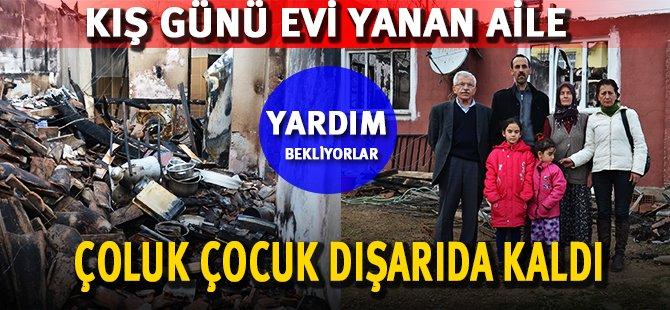 Samsun'da Evi Yanan Aile Yardım Bekliyor